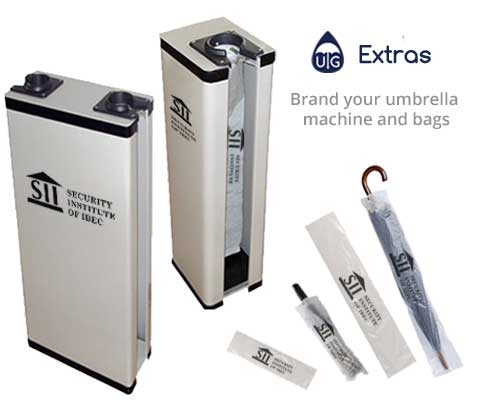 branding for umbrella bags and machines